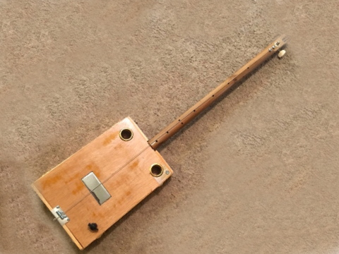 Plain Wood Humbucker diddley bow