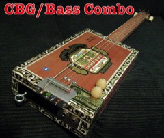 Guitar-Bass Combo Arturo Cigar Box Guitar