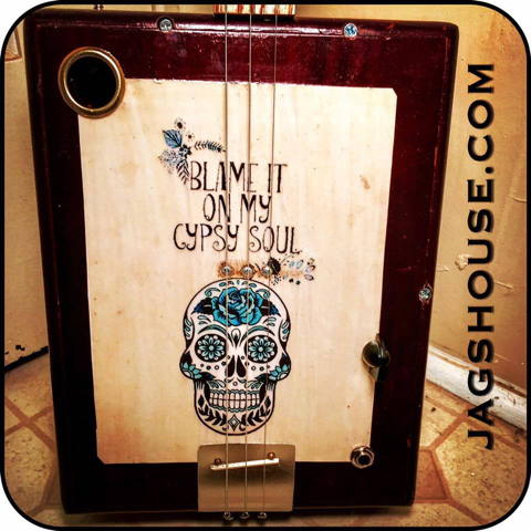 Blame It On My Gypsy Soul Cigar Box Guitar