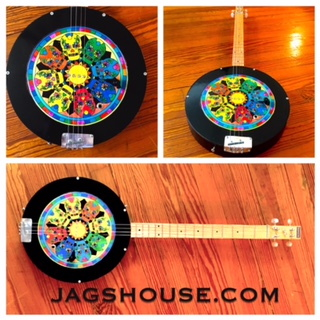 Circular Skull Cigar Box Guitar