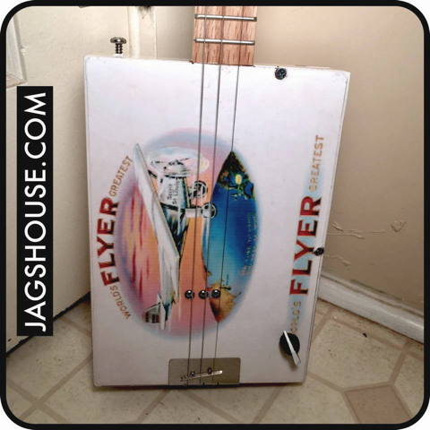 Airplane Flyer Cigar Box Guitar