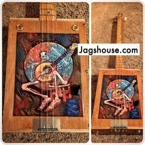 Grateful Dead Cigar Box Guitar