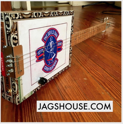 Grim Reaper Cigar Box Guitar