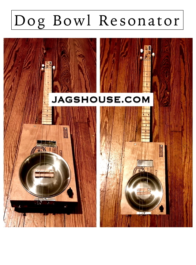 Padron Dog Bowl Resonator Cigar Box Guitar