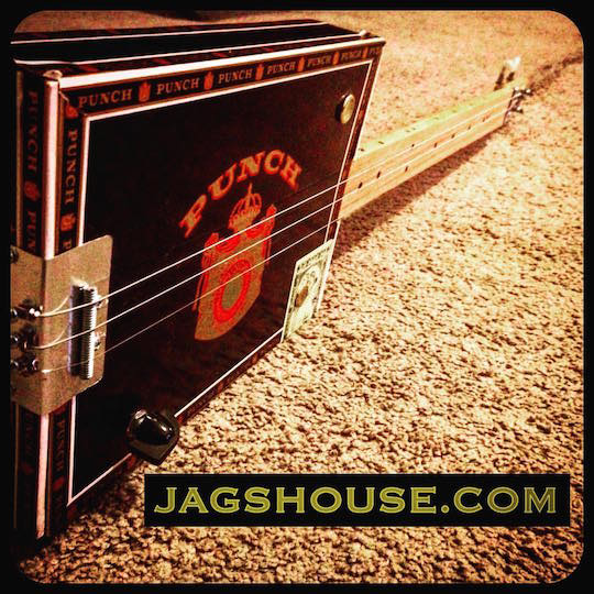 Black Punch Lil Mojo Cigar Box Guitar