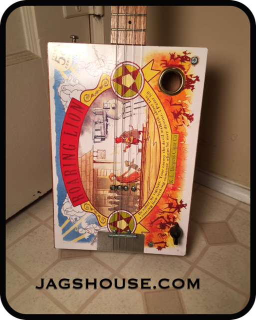 Roaring Lion Soundhole Cigar Box Guitar