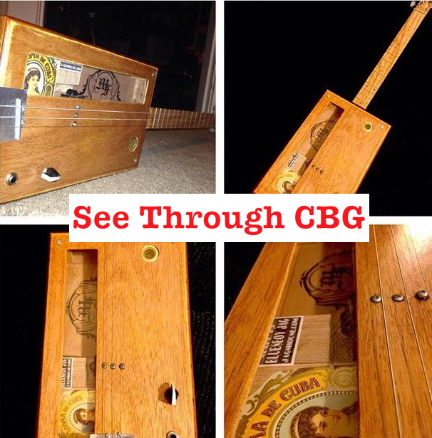 See Thru Cigar Box Guitar