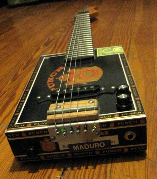 bluesboy jag punch 6 string cigar box guitar. Black Bedroom Furniture Sets. Home Design Ideas
